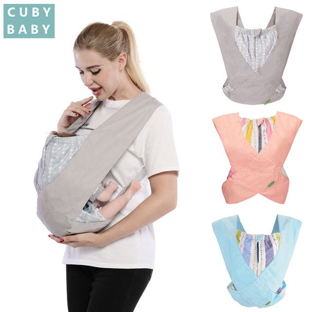 df36fdf5053 Cuby fashion Baby Carrier Cozy Cotton Baby stretchy X-type Newborn light  Baby Kangaroo Sling Baby Carrier