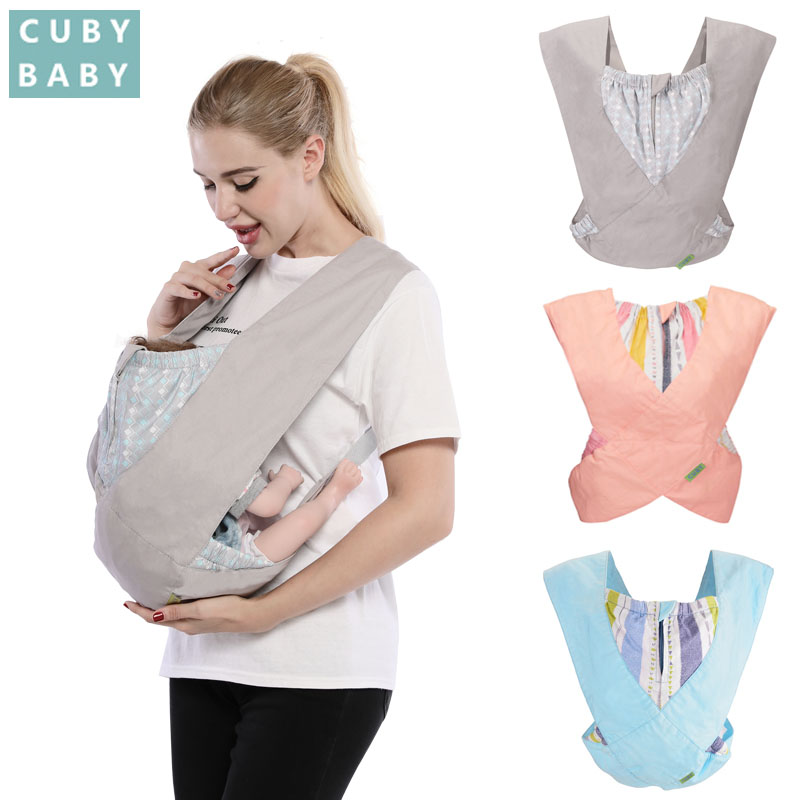 Cuby fashion Baby Carrier Cozy Cotton Baby stretchy X-type Newborn light Baby Kangaroo Sling Baby Carrier