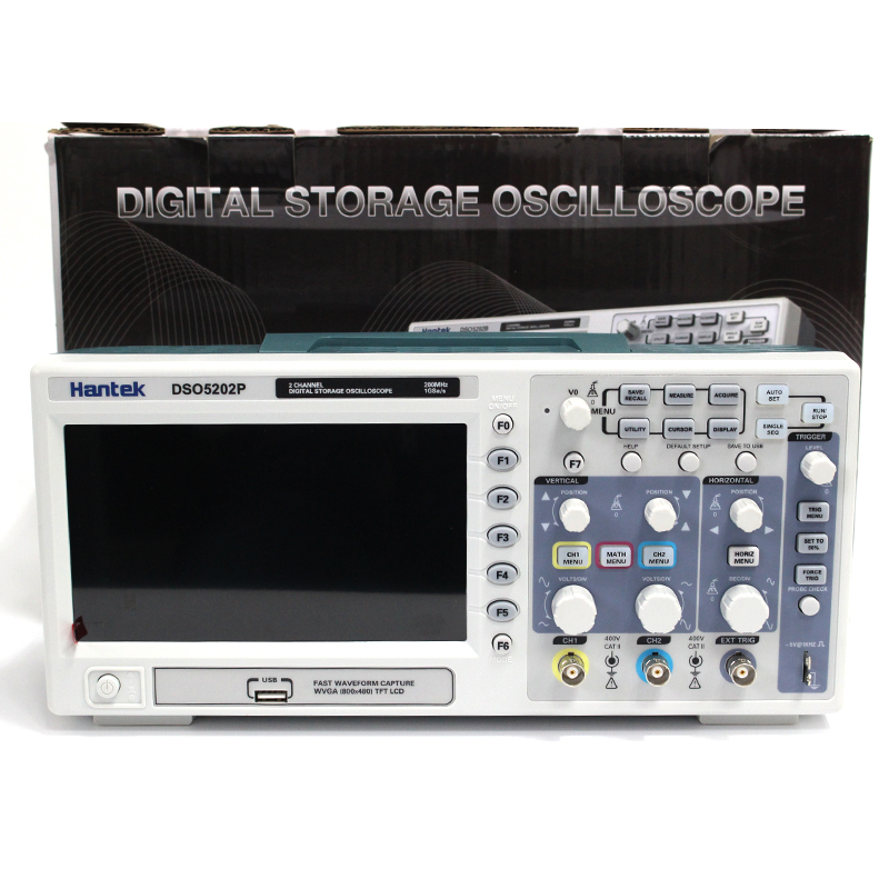 Osciloscopio Hantek DSO5202P Digital Oscilloscope USB 200MHz bandwidth 2 Channels 1GSs PC Storage LCD Record length up to 24K (3)