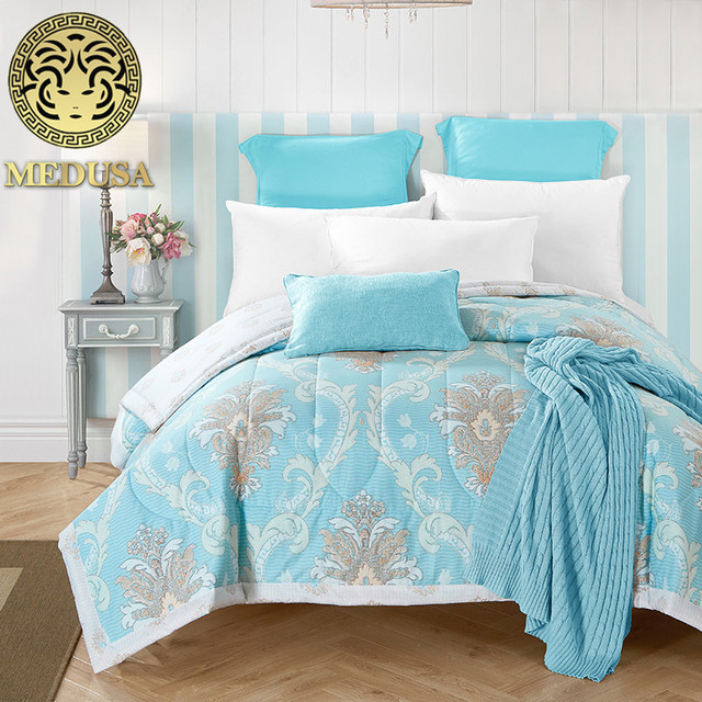 Medusa 100% cotton paisley patterned oriental quilted bedspreads ... : single quilted bedspreads - Adamdwight.com