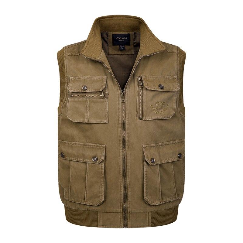 Männer Große Größe XL-4XL Fit Weste Masculino Hochwertigen Sleeveless Bequemste Jacke Homme Klassische Entladen Taktische Weste