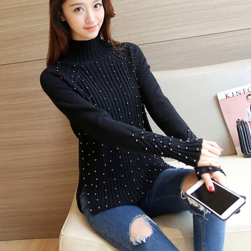 4361 - 2016 new autumn Korean Beaded sweater 68