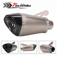 60MM Inlet Motorcycle For BMW S1000RR Carbon Fiber Exhaust Pipe Muffler Slip On Exhaust With DB Killer 2015 2016 2017