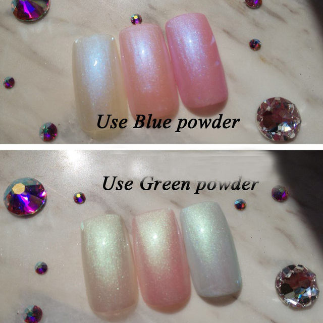 1 Box 3g Mermaid Nail Glitter Powder
