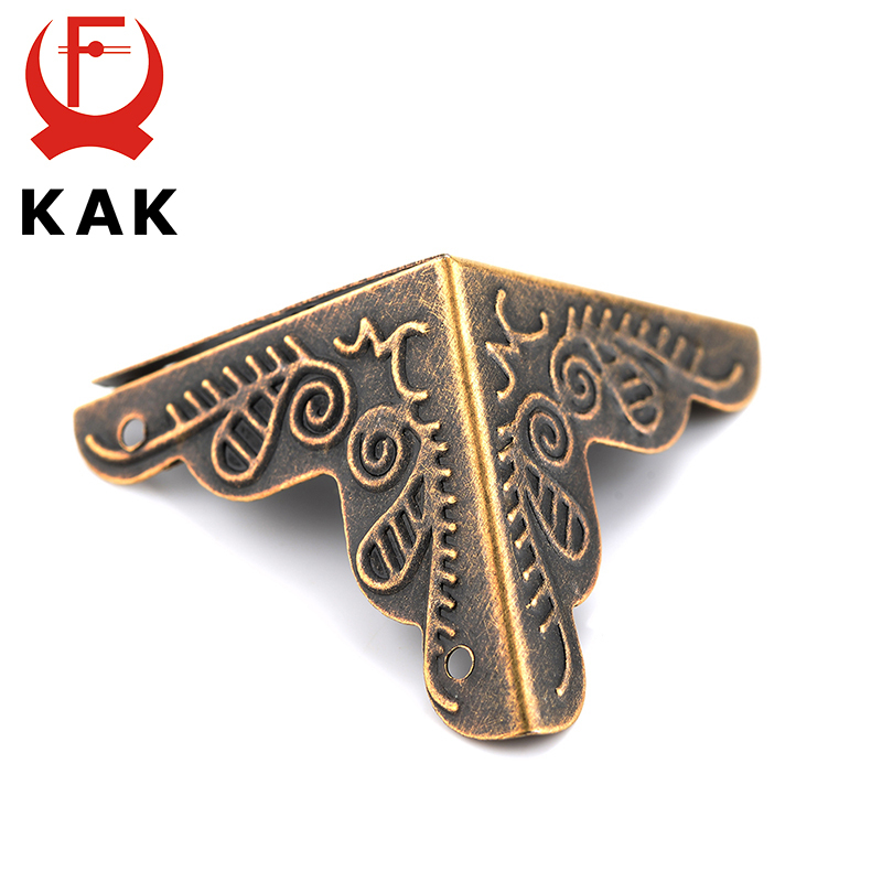 30PCS 3.6x2.4cm Luggage Case Box Corners Brackets Decorative Corner For Furniture Decorative Triangle Rattan Carved Hardware