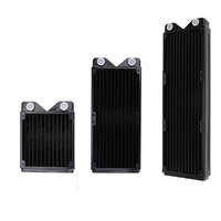 ALLOYSEED 120 240 360mm Full Copper PC Water Cooler Exchanger Water Cooling Computer Heat Sink Radiator