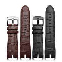 NEW Arrivals 26*22mm Black and Brown Genuine leather strap watch strap crocodile pattern For Roger Dubuis EXCALIBUR series