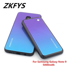 ZKFYS 5000mAh Wireless Magnetic Fast Charger For Samsung Galaxy Note 9 Portable Power Bank Case Battery Cover