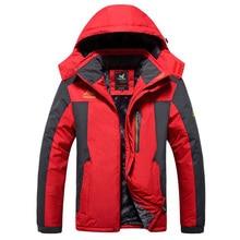 Kış Ceket Erkekler Kalın Rüzgar Geçirmez Su Geçirmez Polar Ceketler Erkek Askeri Dış Giyim Parka Palto Artı boyutu 6XL7XL 8XL 9XL Mont