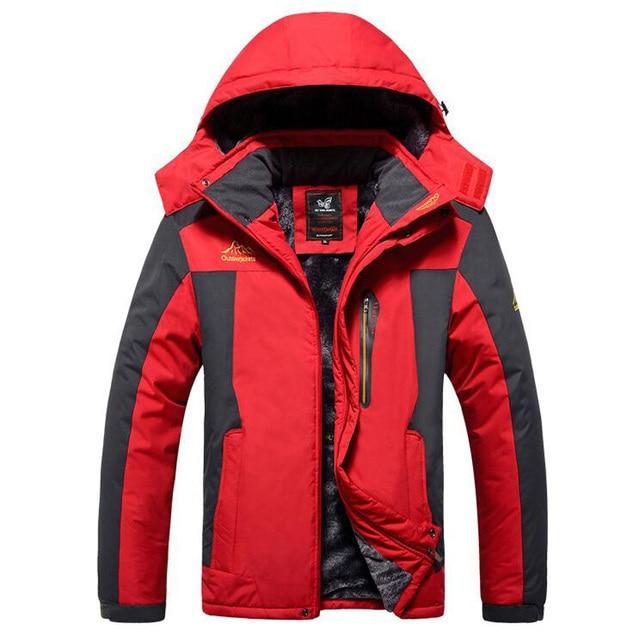 Winter Jacket Men Thick Windproof Waterproof Fleece Jackets Mens Military Outwear Parka Overcoat Plus size 6XL7XL 8XL 9XL  Coats