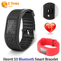 Hesvit S3 Heart Rate Monitor Inteligente Banda Deportes Salud Pulsera Inteligente BT4.0 IP65 Gimnasio Pasómetro Inteligente Sueño Muñequera