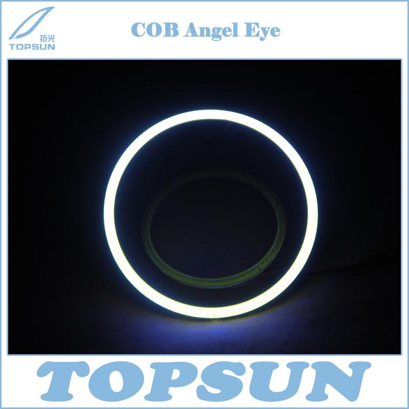ФОТО free shipping 2 pcs/set Universal Use Diameter 140mm COB LED Angel Eye Halo Ring Retrofit, red yellow blue green white violet