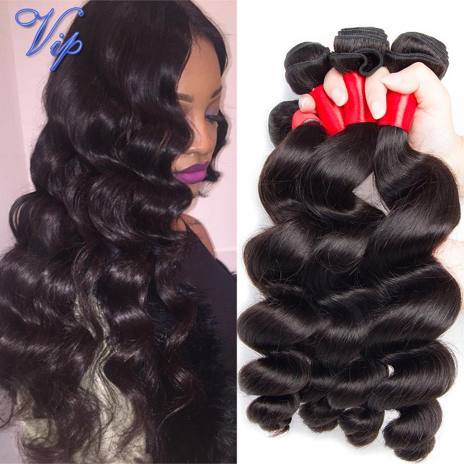 bele virgin hair peruvian loose wave 3 bundles human weave Unprocessed 7A Peruvian natural color 1b - VIP Beauty Hair Products Co.,Ltd store