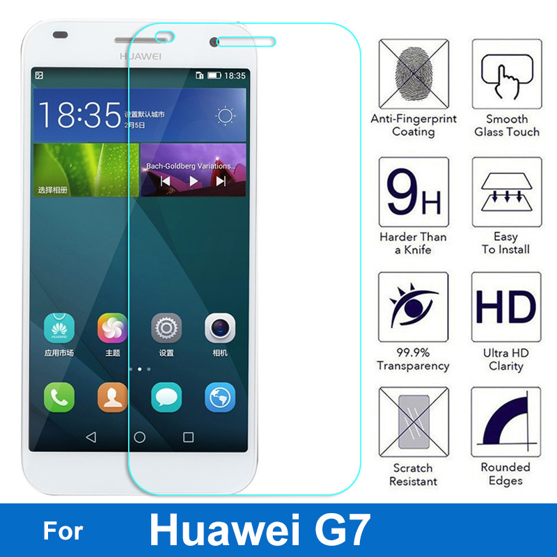 Nicotd Premium Tempered Glass Screen Protector For Huawei Ascend G7 G7-L01 G7-L03 G7-TL00 G7-UL10 Dual Sim Lte Anti-Shock Film