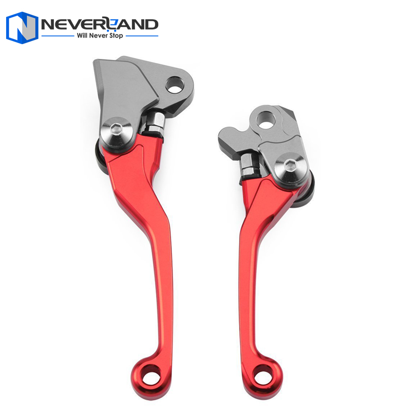 NEVERLAND Red CNC Pivot Brake Clutch Levers for Yamaha YZ 125 250 250F 426F 450F Kawasaki KX 125 250 250F 450F for Suzuki RMZ250 for yamaha yz80 yz85 kawasaki kdx200 kdx220 suzuki rm85 rm125 rm250 drz125l cnc dirttbike pivot brake clutch levers blue