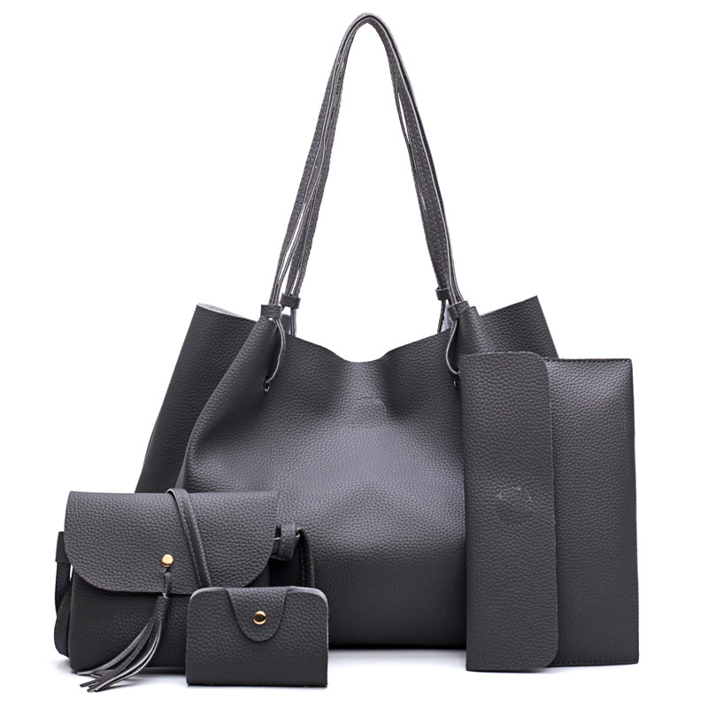 e90359799a0a Women Big Black Tote Bag Solid Beach Bags Female Leather Messenger Bag Long  Cheap Large Casual Shoulder Bags Purse Satchel Tote-in Shoulder Bags from …