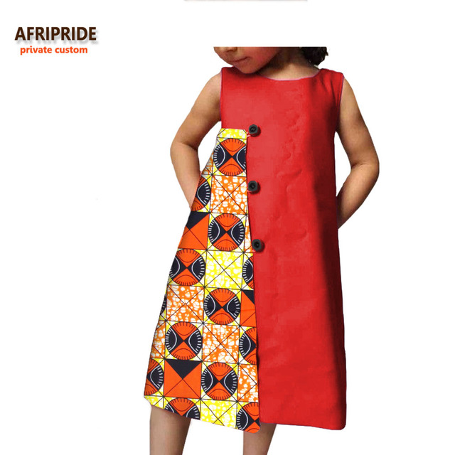 2018 african casual dress for girls afripride sleeveless knee length