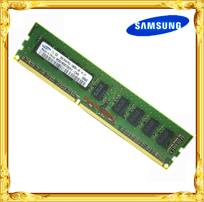 <font><b>Samsung</b></font> <font><b>DDR3</b></font> 2GB 4GB server workstation memory 1333MHz Pure ECC UDIMM 2RX8 PC3-10600E RAM 10600 Unbuffered image
