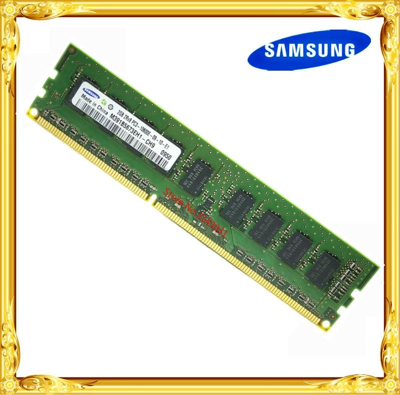 Samsung DDR3 2GB 4GB Server  Workstation Memory 1333MHz Pure ECC UDIMM  2RX8  PC3-10600E  RAM 10600 Unbuffered