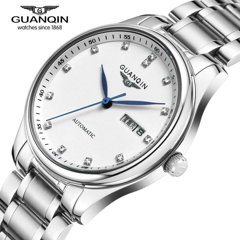 ФОТО Famous Brand GUANQIN Men Watch with Date Mechanical Watches Sapphire Men Sale Watch Luxury Brand Waterproof Dress Wristwatches