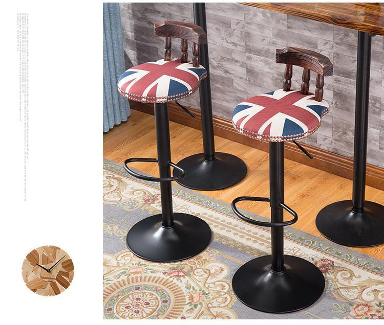 Pubic house chair  tommy shop stool Beauty Salon chair free shipping coffee color hair shop bar pubic house lift 60 to cm chair free shipping new chair stool design