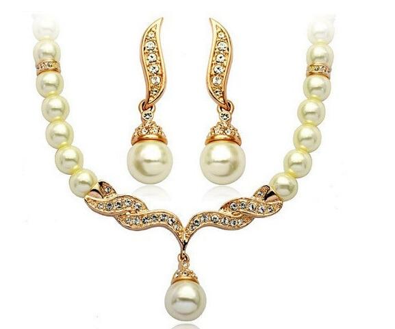 Ngọc bridal necklace earring trang sức set wedding đồ trang sức và thời trang tinh thể cweel cho phụ nữ miễn phí vận chuyển