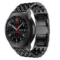 Neue 22 MM Ersatz uhr band Für Samsung Getriebe S3 Frontier/Klassische smart Uhr Band Cowboy kette Edelstahl für Getriebe S3