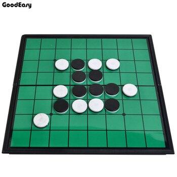 Juego de mesa de Otello de alta calidad 64 unids/set juego de ajedrez magnético ajedrez de plástico