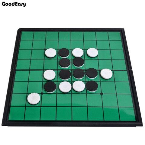 Qualidade de Jogo de Tabuleiro Jogo de Xadrez Jogo de Xadrez de Plástico Alta Othello Set Reversi Magnética de Plástico 64 Pçs –