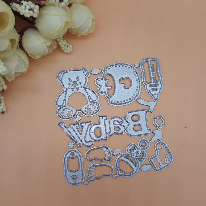 2018 NEW Cute Baby bear Suit Set Metal Cutting Dies Stencils DIY Scrapbooking Decorative Craft Photo Album Embossing Folder