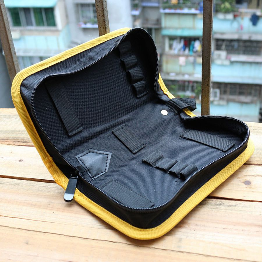 600D Oxford Cloth Multi-function Screwdriver Tool Bag Durable Sturdy Plastic Plate Side Easy Open Multi-function Use Storage Bag