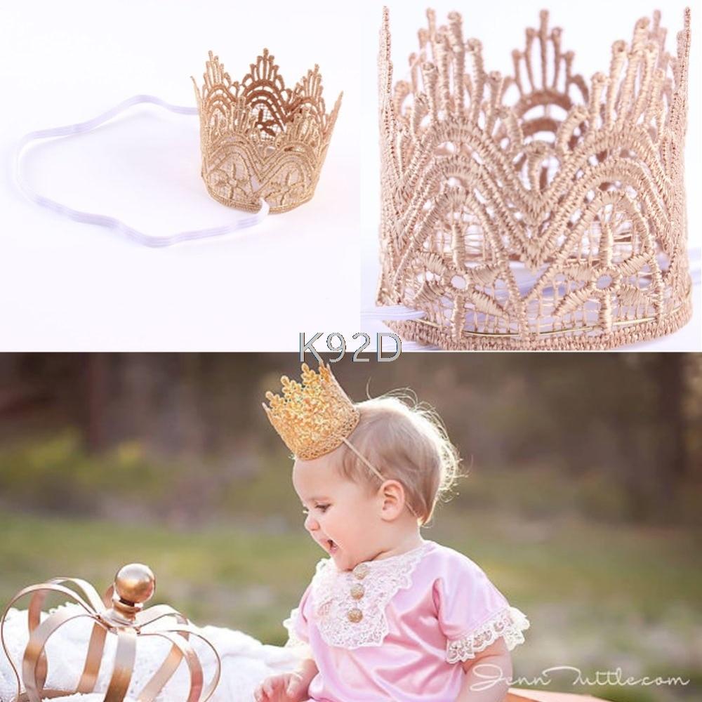 Newborn Baby Girls Infant Toddler Crown Headband Hair Band Headwear Accessary N07