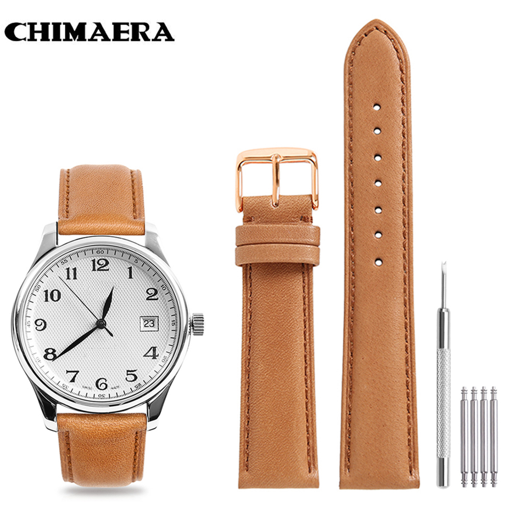 CHIMAERA Watchband Genuine Calf leather Watch Band Strap ...