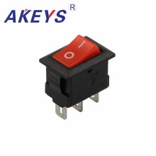 20PCS KCD1-101-3P 3PINS Power switch rocker switch with red cap for Disinfection Cabinet