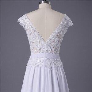 Image 5 - 2020 תפור לפי מידה סקסי זול שמלות כלה Vestido דה Noiva Casamento שיפון תחרה ללא משענת Robe De Mariage כלה תוצרת סין