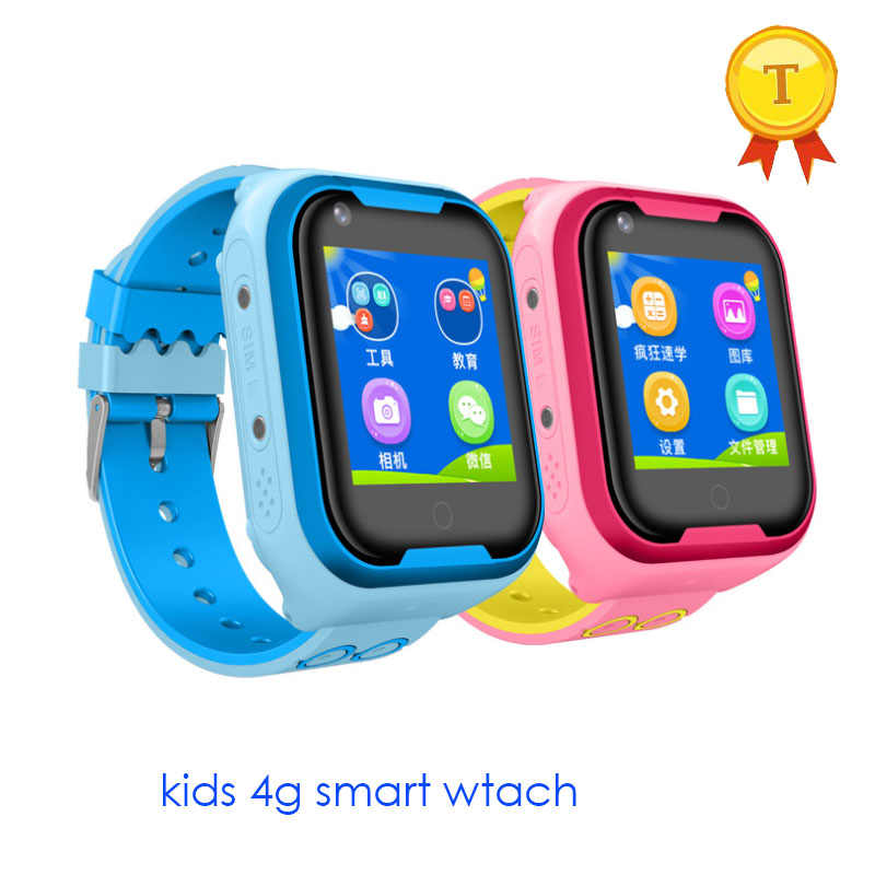 2019 New Video call 4G Smart phone Watch for Kids Baby ip67 Waterproof GPS WIFI Positioning With Voice Chat Camera SOS Anti-lost