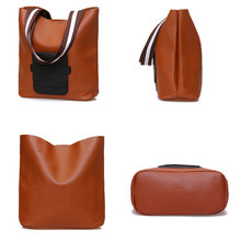 High Quality Pu Leathe Fashion Bucket Shoulder Bag for Women Handbags