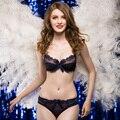 Alegria Alice 2017 novo Design 32-42 ABCD respirável ultra-fino sexy conjunto sutiã de renda roupa interior das mulheres conjunto transparente intimates briefs