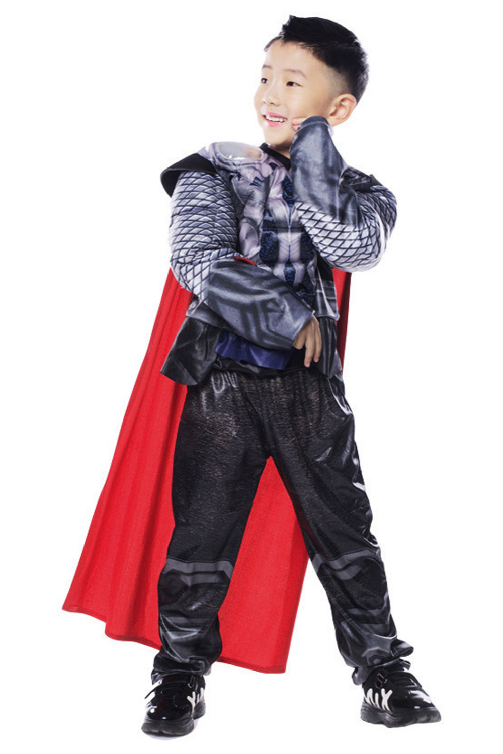 Marvel Thor Cosplay Costume Thor Cosplay Zip Hoodie For Kids Cosplay Costume For Children Children's Cosplay Costume Full Set