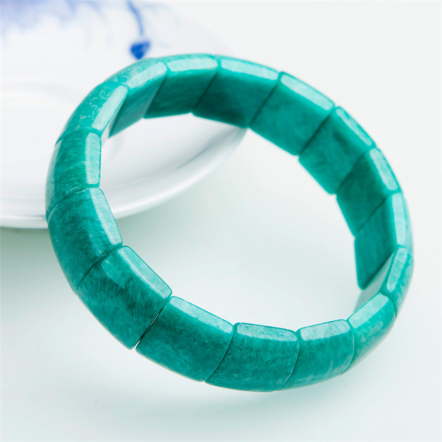 Genuine Green Natural Amazonite Gemstone Crystal Rectangle Bead Stretch Bracelets Bangle Jewelry Accessories Gift Drop ShippingGenuine Green Natural Amazonite Gemstone Crystal Rectangle Bead Stretch Bracelets Bangle Jewelry Accessories Gift Drop Shipping