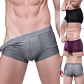 Hot Sexy Mens Underwear Trunks Panties Breathable Mesh Silk Bamboo Boxer Male Brand Shorts Addicted Underpantserpants