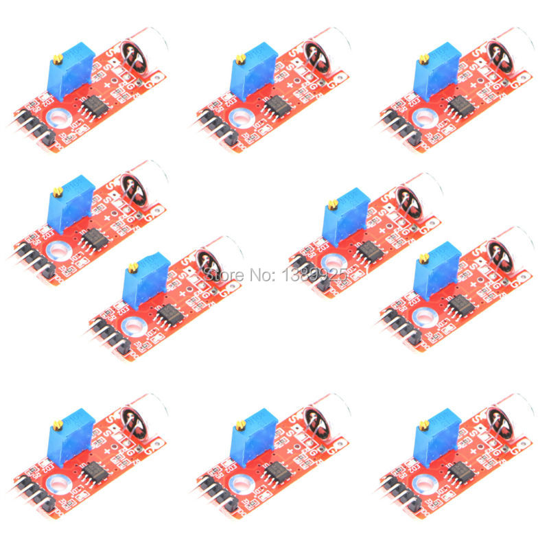 Free shipping KY-037 10pcs/lot High Sensitivity Sound Microphone Sensor Detection Module ...