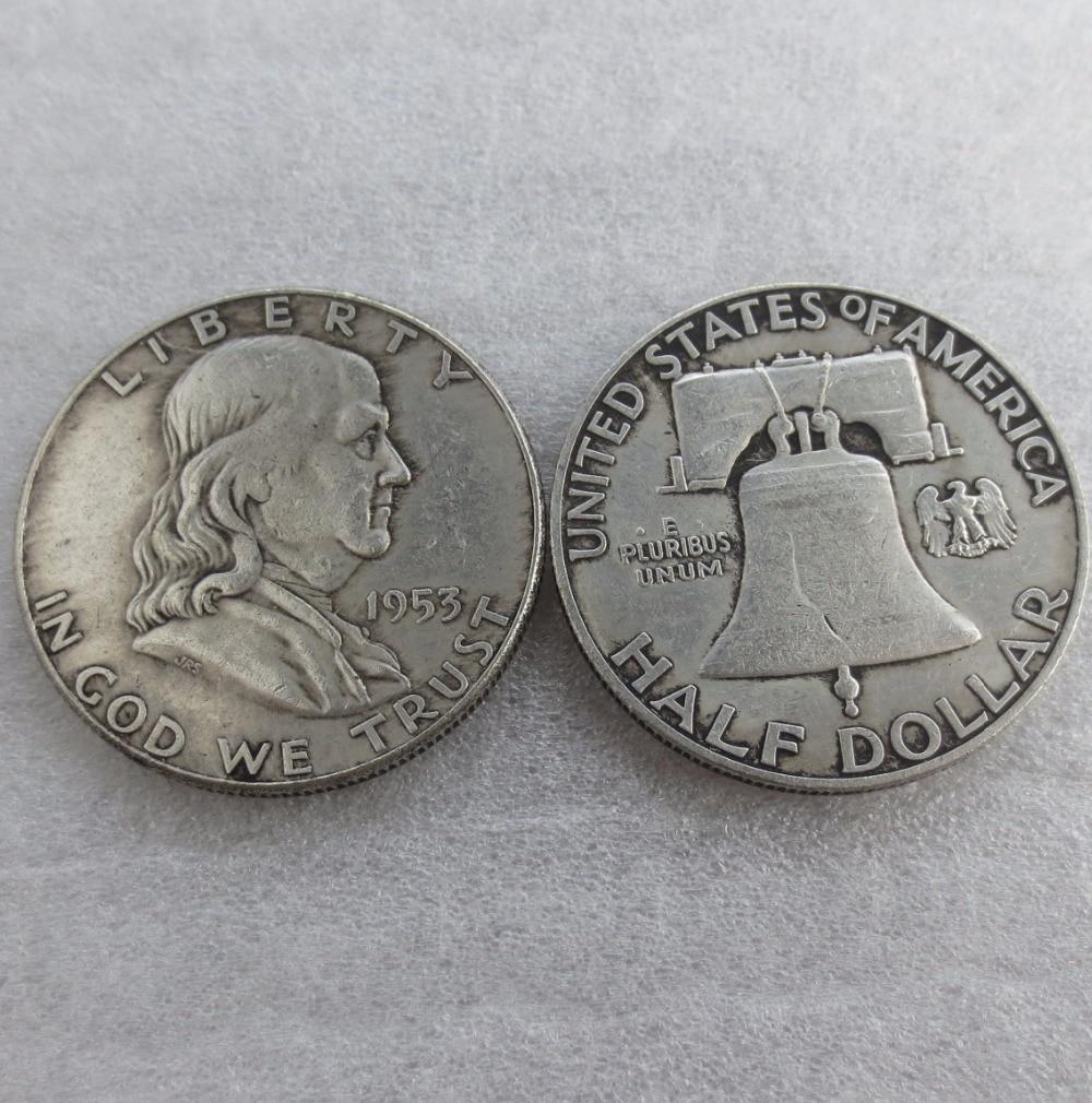 90% серебра или посеребренные 1953 P S D Франклин серебро полдоллара высокое качество