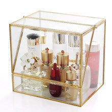 Cosmetics Storage Box Glass Dustproof Acrylic Skin Care Lipstick Jewelry Box Desktop Dressing Table Racks Top Can Be Put Perfume(China)