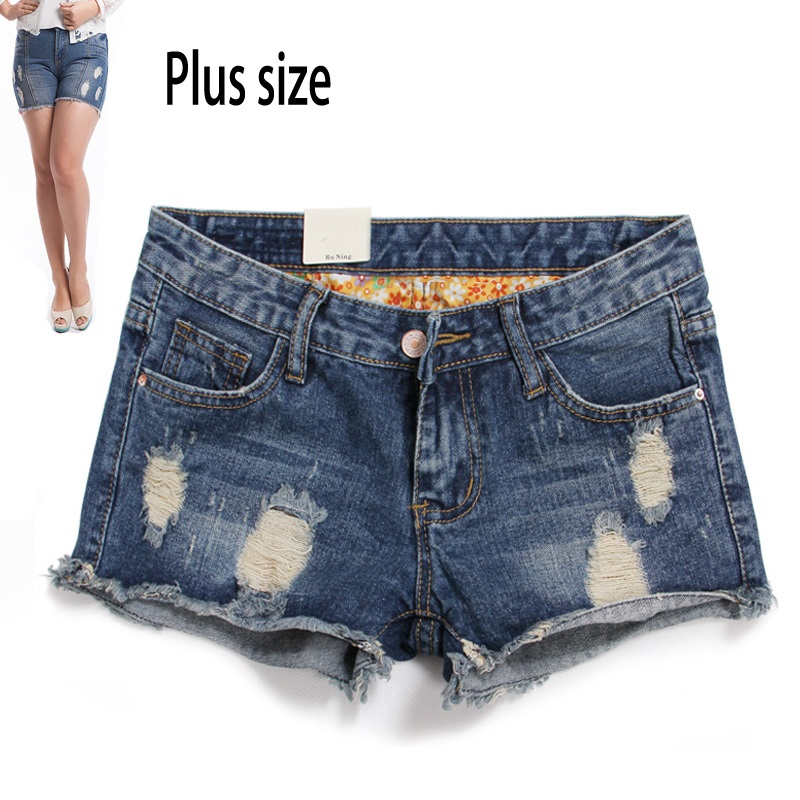 Ripped Denim Shorts For Women
