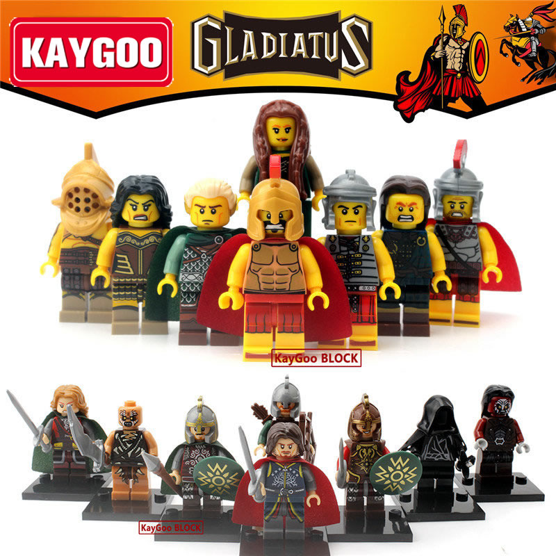 Kaygoo Single Sale Gladiatus Femal Warrior Figures Medieval Knights Rome Commander Highland Fighters Heros Sparta Kids Toy X0137 яйцеварка пароварка caso ed 10