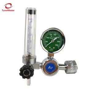 Image 1 - ארגון רגולטור 0 25 Mpa ארגון CO2 הליום חנקן G5/8 כניסת MIG/MAG TIG ריתוך גז flowmeter לחץ זרימת רגולטור