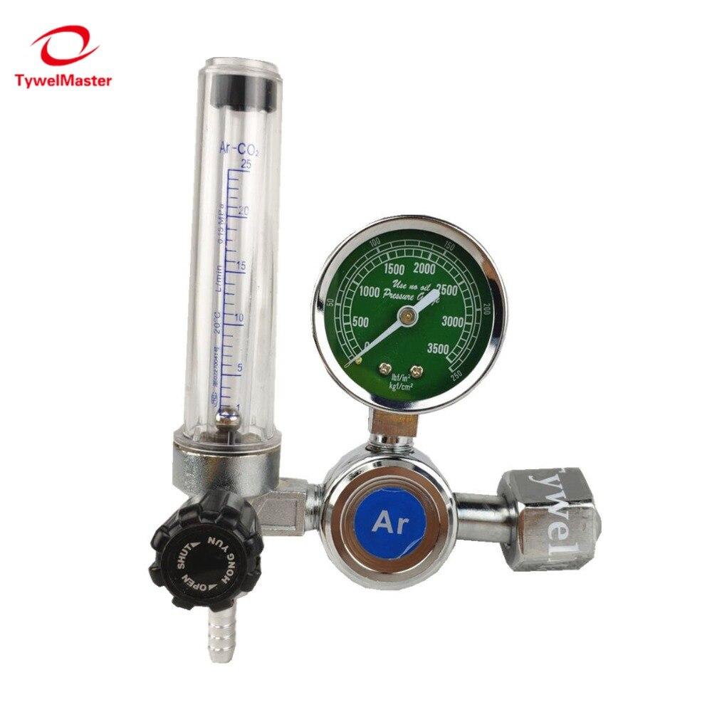 Argon Regler 0-25 Mpa Argon CO2 Helium Stickstoff G5/8 Einlass MIG/MAG TIG Schweißen Gas durchflussmesser Druck Fluss Regler