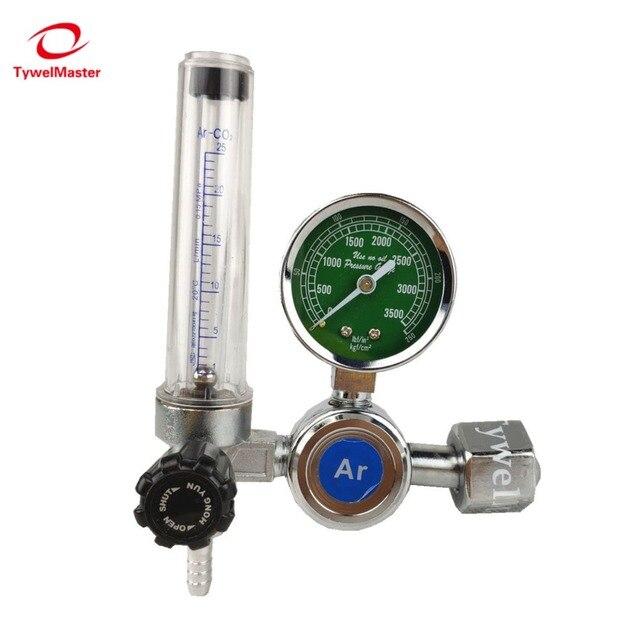 Argon regulador 0 25 mpa argon co2 g5 hélio nitrogênio g5/8 inalação gás de soldagem regulador de fluxo de pressão