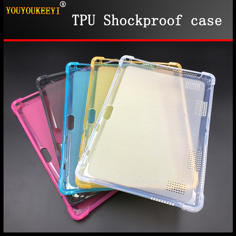 Transparent crystal TPU cover case For BMXC T900 K107 S109 10.1inch tablet Kids Safe Drop resistance Strengthen TPU case+ Gift image